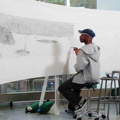 image_library/full/Stephen_Wiltshire_MBE_drawing_New_York.jpg - Stephen Wiltshire media archive