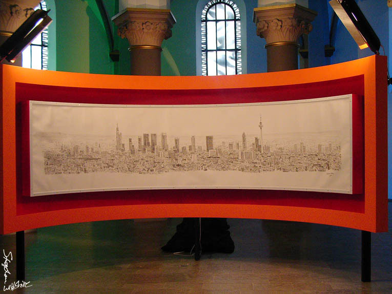 Frankfurt Panoramic Drawing