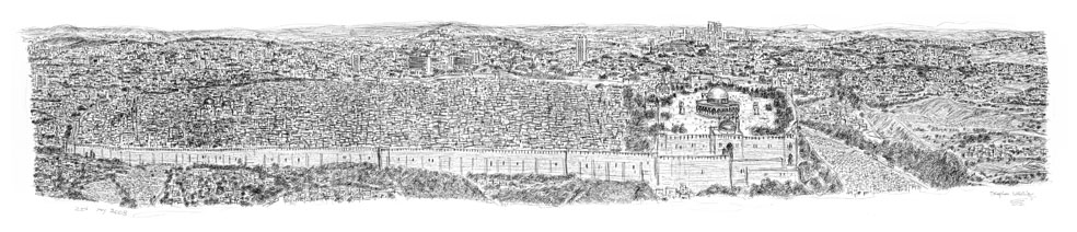Jerusalem Panorama prints by Stephen Wiltshire