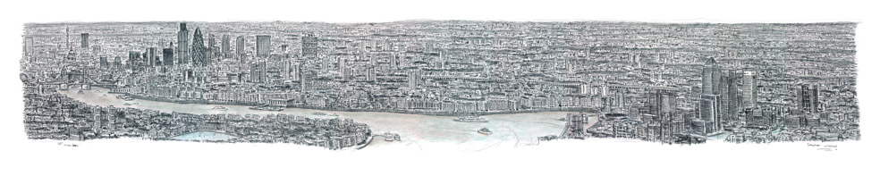 London Panorama prints by Stephen Wiltshire