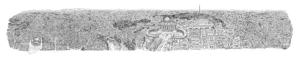 Rome Panorama print by Stephen Wiltshire