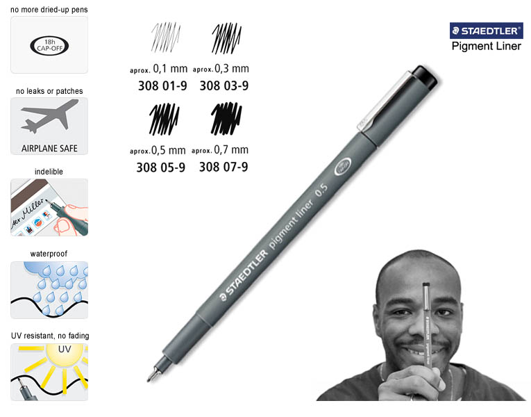 Staedtler Pigment Liner 0.05mm - gifts and merchandise by Stephen Wiltshire MBE