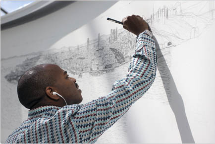 Stephen Wiltshire drawing Istanbul