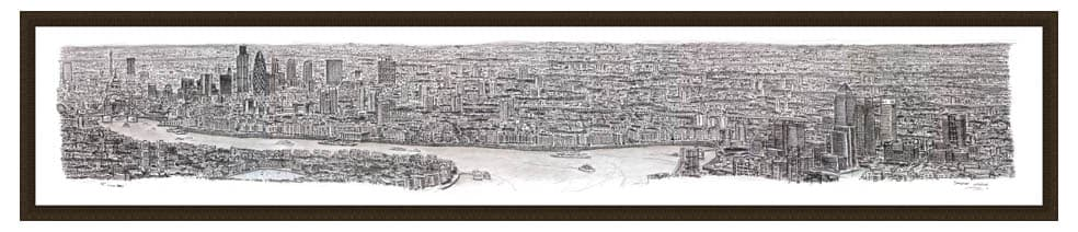 Framed London Panorama prints by Stephen Wiltshire