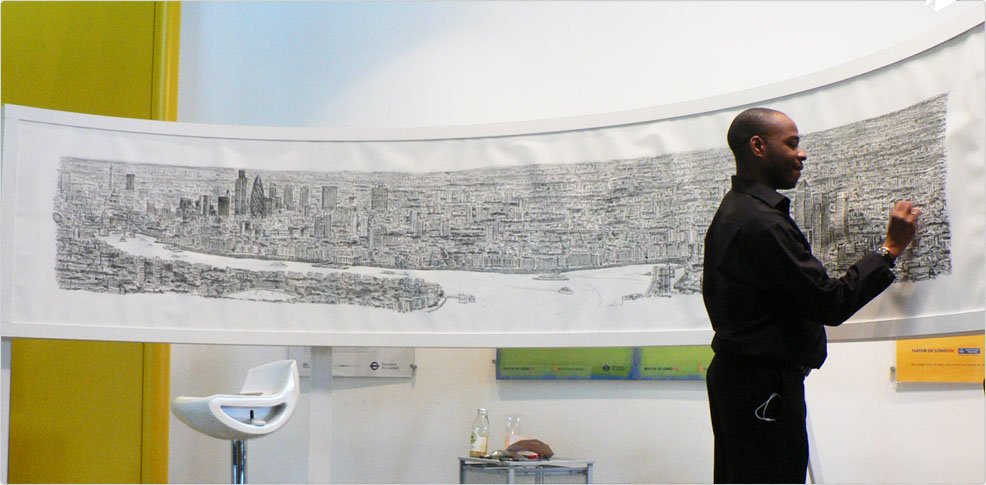 Stephen Wiltshire drawing London