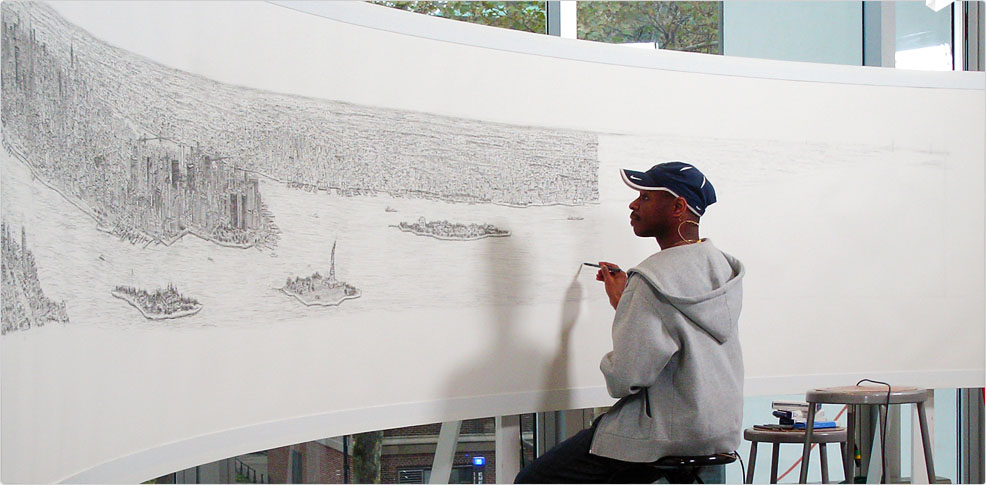 Stephen Wiltshire drawing New York