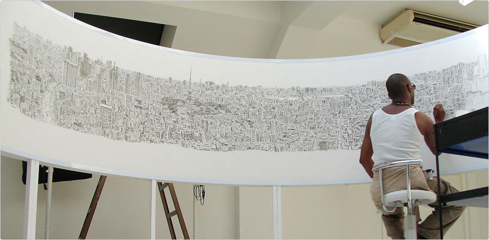 Stephen Wiltshire drawing Tokyo