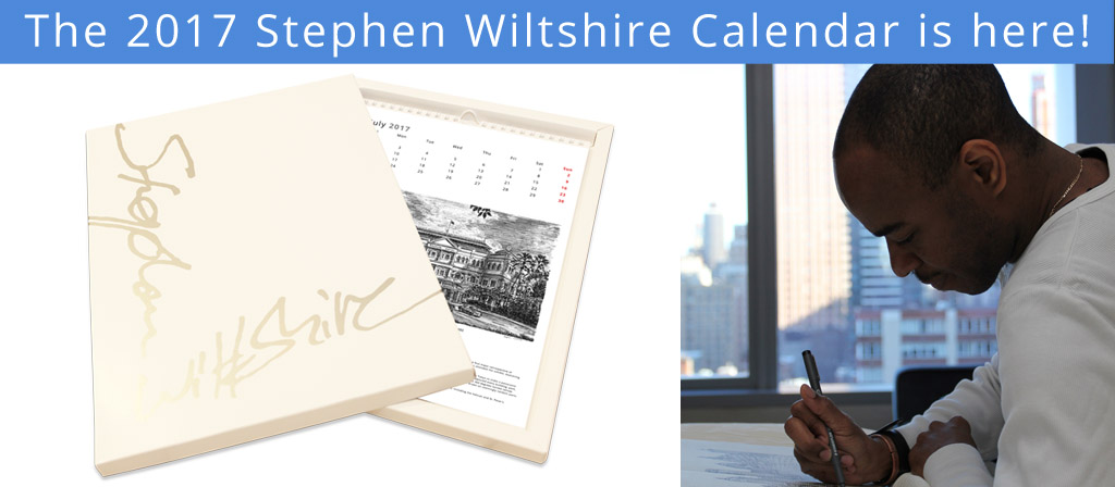 The 2017 Stephen Wiltshire Calendar is here!