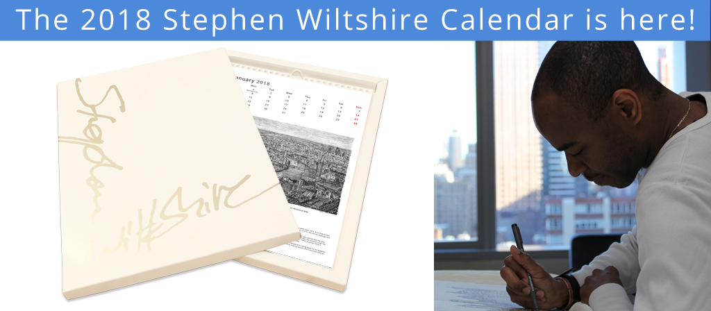 The 2018 Stephen Wiltshire Calendar is here!