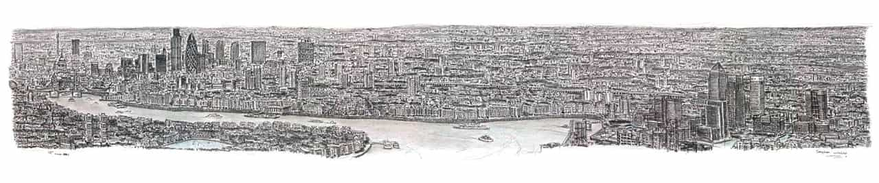 Stephen Wiltshire draws London Panorama