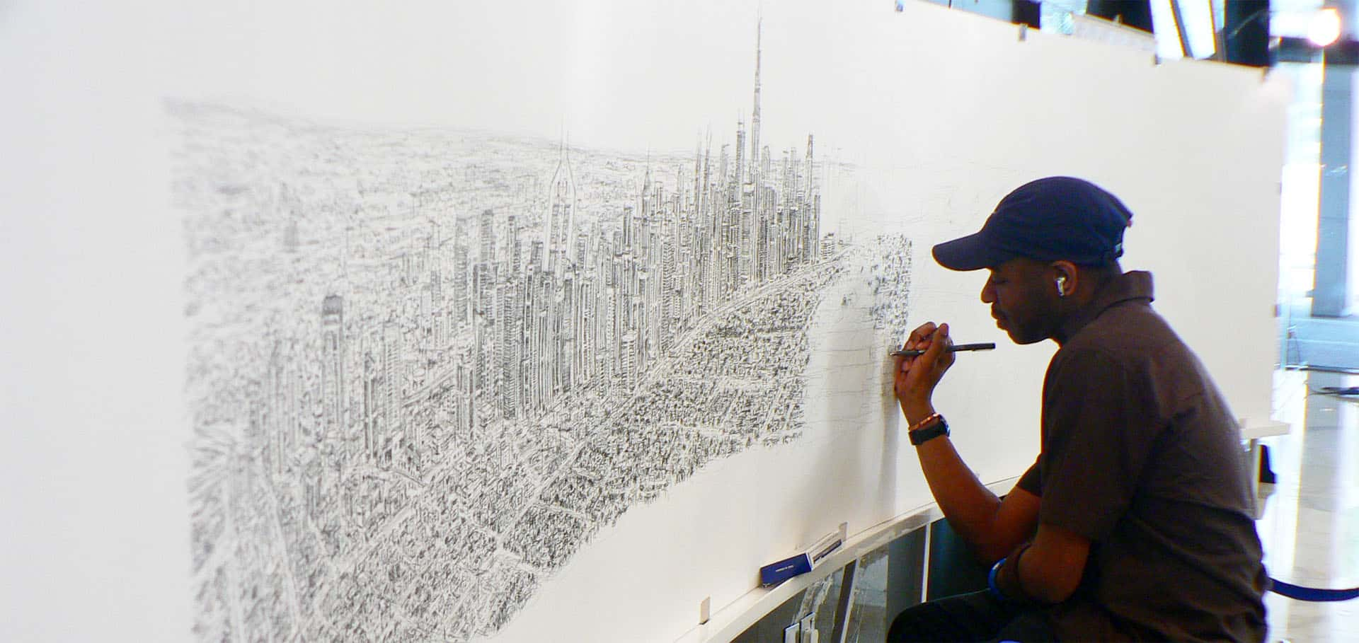 Stephen Wiltshire S Dubai Panorama Drawing