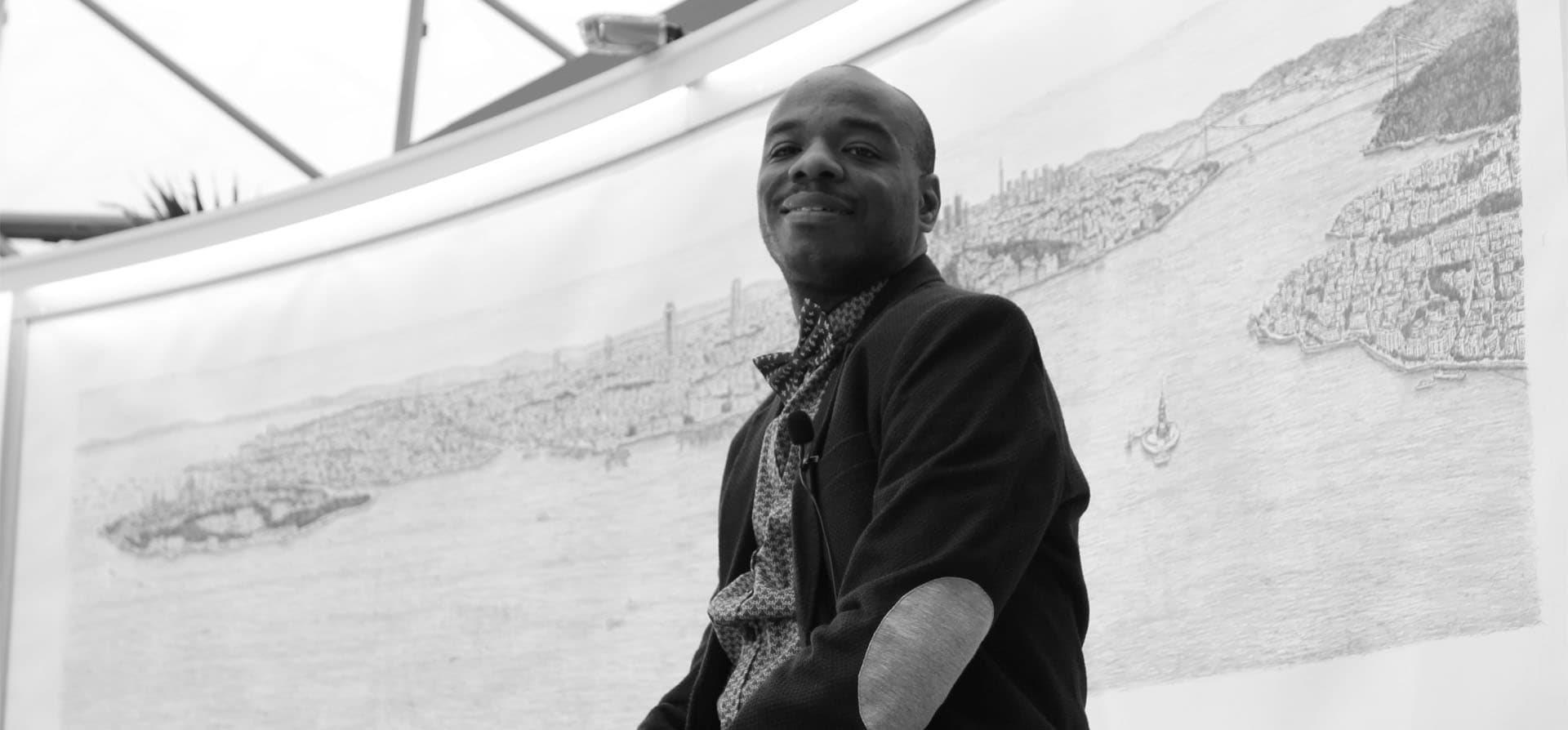 Stephen Wiltshire draws Istanbul Panorama