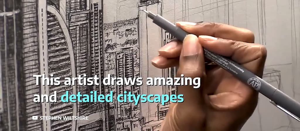 Artist draws amazing and detailed cityscapes