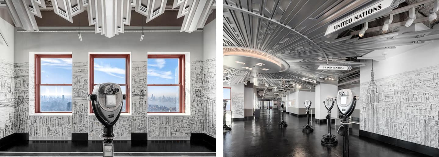 Stephen Wiltshire designs the interior of the Empire State Building observatory