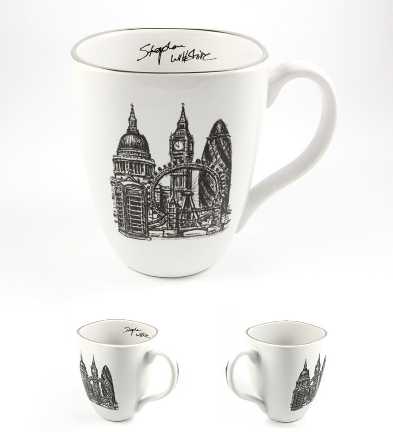Stephen Wiltshire Ceramic Mug - London Montage - gifts and merchandise by Stephen Wiltshire MBE