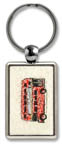 Keyring with a miniature original - Double decker bus - gifts and merchandise by Stephen Wiltshire MBE