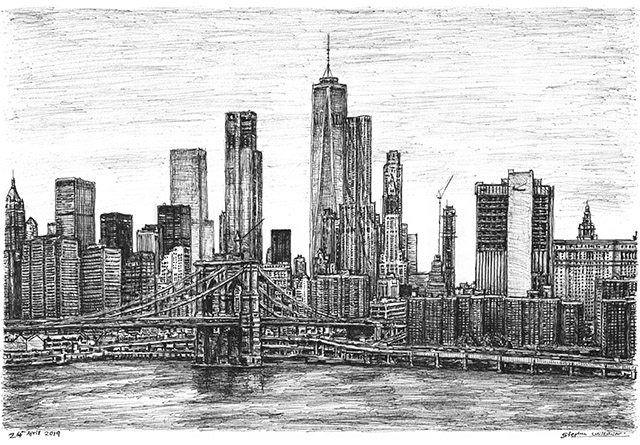 Drawing of Manhattan, New York