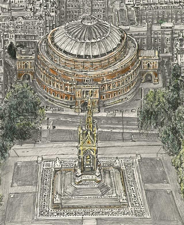 Royal Albert Hall, London - original drawing