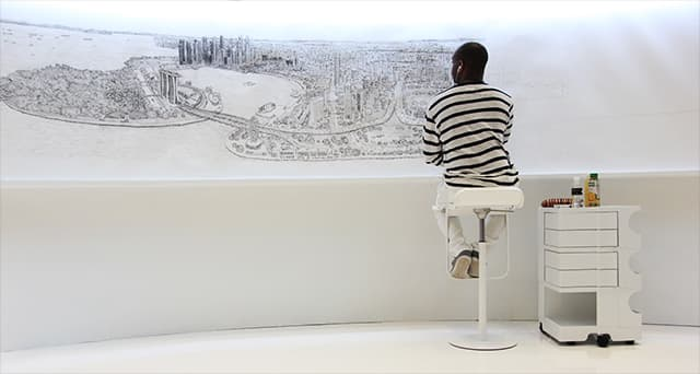 Stephen Wiltshire in Singapore