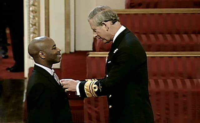 Stephen Wiltshire receives his MBE for services to Art