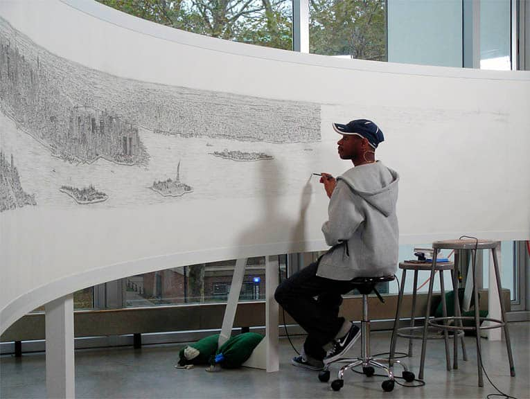 New York Panorama print - originals and prints by Stephen Wiltshire MBE