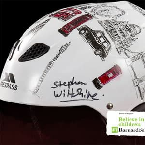 Unique Custom Designed Ski Helmet by Stephen Wiltshire