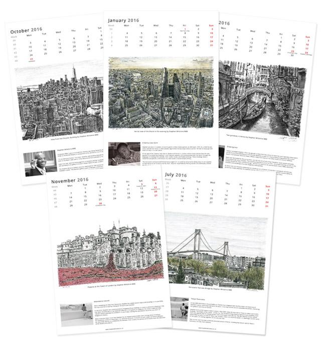 Stephen Wiltshire Special Edition 2016 Calendar