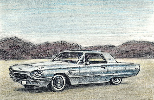 1965 Ford Thunderbird by Stephen Wiltshire