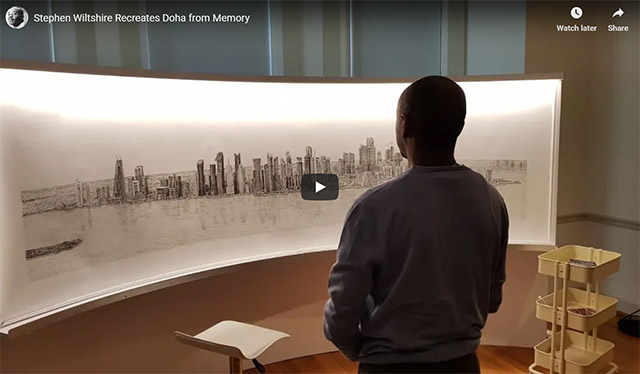 Stephen Wiltshire recreates Doha from memory
