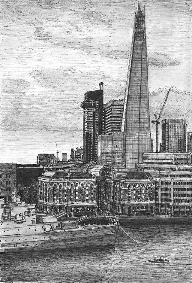 View of the Shard from Landmark Place