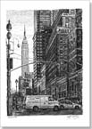 Street scene of 34th street New York - Originals for sale