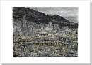 Monte Carlo in the evening - Drawings - Originals for sale