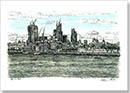 View of City of London from Tower Bridge - Originals for sale