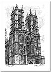 Westminster Abbey - Drawings - Originals for sale
