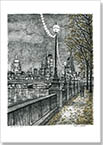 From Southbank on an autumn evening (Limited Edition of 75) - Drawings - Prints for sale
