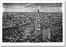 Aerial view of the Shard (in the evening) - Originals for sale