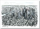 Aerial view of City of London skyscrapers of the future - Originals for sale