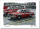 FDNY Chief Officers Car - Drawings - Originals for sale