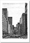 New York street scene on Park Avenue - Originals for sale