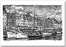 Nyhavn, Copenhagen - Drawings - Originals for sale