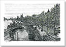 Embankment - Drawings - Originals for sale