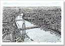 Aerial view of Houses of Parliament - Originals for sale