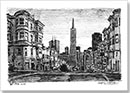 San Francisco street scene - Drawings - Originals for sale