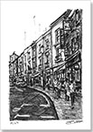 Portobello Road at Notting Hill - Drawings - Originals for sale