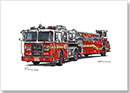 FDNY 2013 Seagrave Tiller Ladder 101 - Drawings - Originals for sale