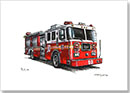 FDNY Seagrave Engine 10 - Drawings - Originals for sale