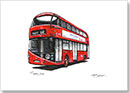 The new Routemaster bus - Drawings - Originals for sale