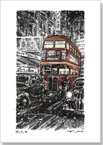 RT London bus on a winters night - Originals for sale