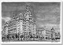 Liver Building, Liverpool - Drawings - Originals for sale