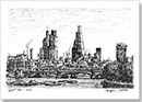 City of London skyline from Waterloo Bridge - Originals for sale